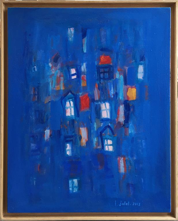 La ville bleu I Oljemaleri (81x65 cm) kr 15000 mr