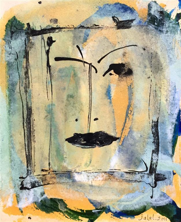 Portrett I Akrylmaleri (20x16 cm) kr 1200 ur