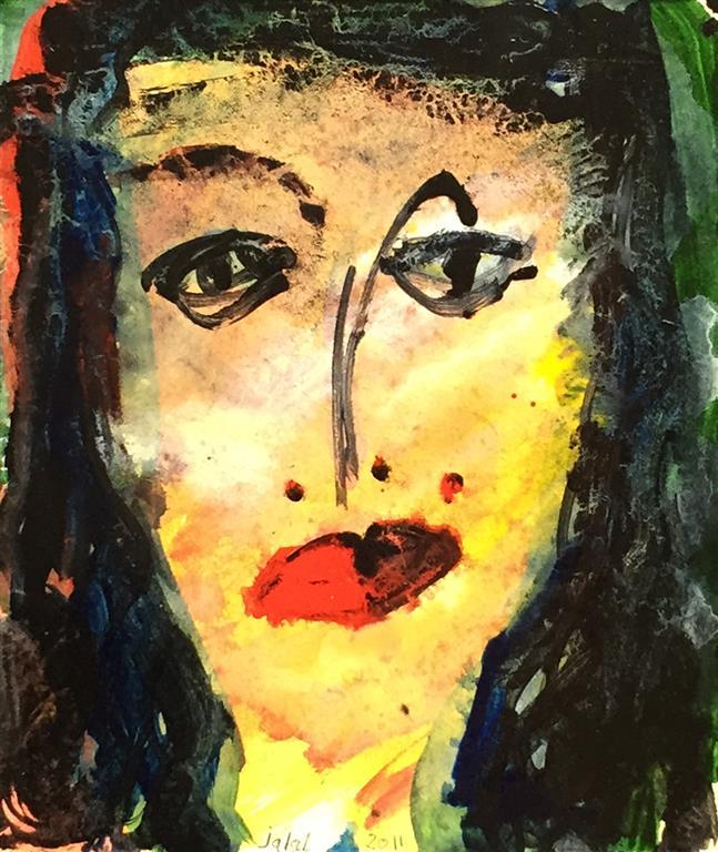 Portrett II Akrylmaleri (20x16 cm) kr 1200 ur