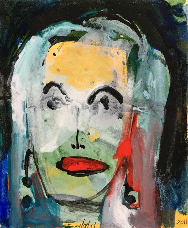 Portrett III Akrylmaleri (20x16 cm) kr 1200 ur