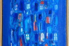 La ville bleu II Oljemaleri (81x65 cm) kr 15000 mr