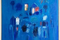 Les fenêtres et la croix Oljemaleri (80x80 cm) kr 18000 mr