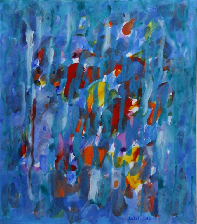 Etat spirituel III Akrylmaleri 64x48 cm 12000 mr