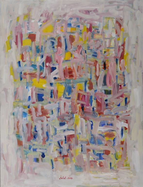 Hommage a Stravinsky Oljemaleri 116x89 cm 27000 mr