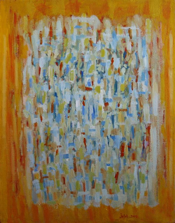 Le tango des pinceaux Oljemaleri 116x89 cm 27000 ur
