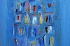 Bleu vitrail Oljemaleri 60x60 cm 12000 mr