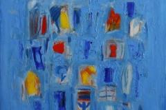 Composition lyrique Oljemaleri 50x50 cm 8500 mr