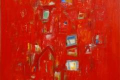 La ville rouge Oljemaleri 81x65 cm 15000 mr