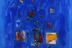 Le chant de bleu Oljemaleri 60x60 cm 12000 mr