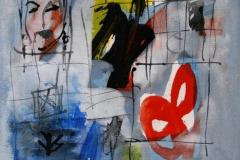 Petite peinture carre I Akrylmaleri 20x20 cm 1900 mr