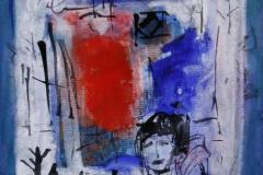 Petite peinture carre III Akrylmaleri 20x20 cm 1900 mr