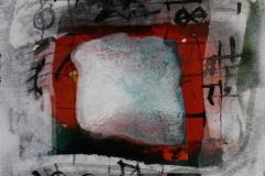 Petite peinture carre IV Akrylmaleri 20x20 cm 1900 mr