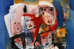 Petite peinture carre IX Akrylmaleri 20x20 cm 1900 mr