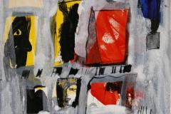 Petite peinture carre VII Akrylmaleri 20x20 cm 1900 mr