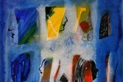 Petite peinture carre XI Akrylmaleri 20x20 cm 1900 mr