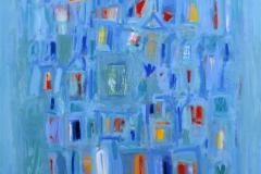 Turquoise de Damas Oljemaleri 100x100 cm 26000 mr