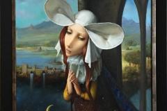 Dronning Herzeloyde Oljemaleri (60x50 cm) kr 18000 mr