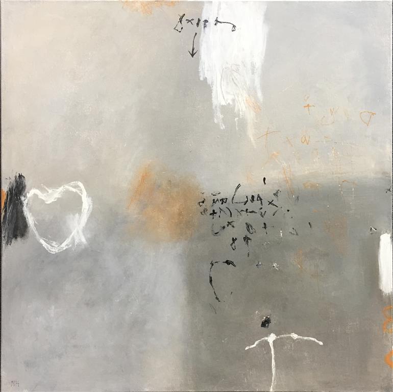 Scribbles 1_2 Akrylmaleri ( 50x50 cm) kr 5000 ur