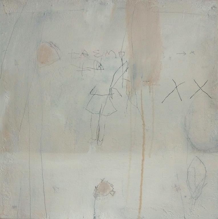 Scribbles 9 Akrylmaleri 50x50 cm 5000 ur