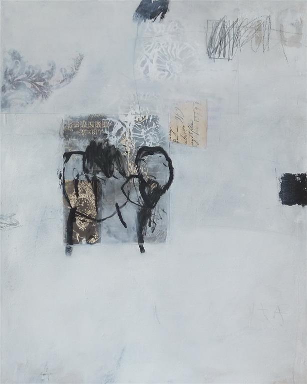 Wintertime 1 Akrylmaleri 50x40 cm 4500 ur