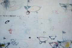 Vakantie Uittocht 2 Akrylmaleri 100x100 cm 10000 ur