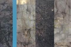 Blå stripe Collage (32x64 cm) kr 5000 ur