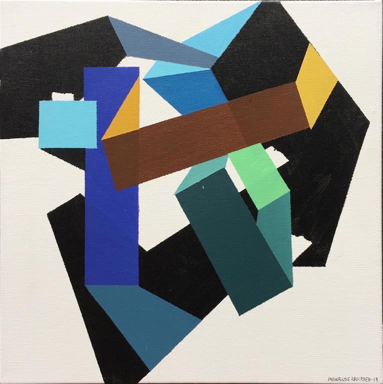 Figurer IV Akrylmaleri (33x33 cm) kr 2800 ur