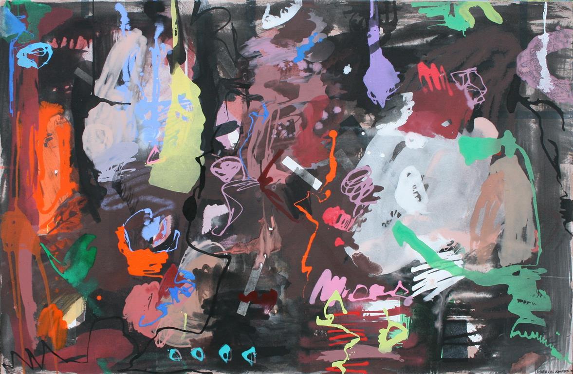 Høst Akrylmaleri (85x129 cm) kr 12000 ur