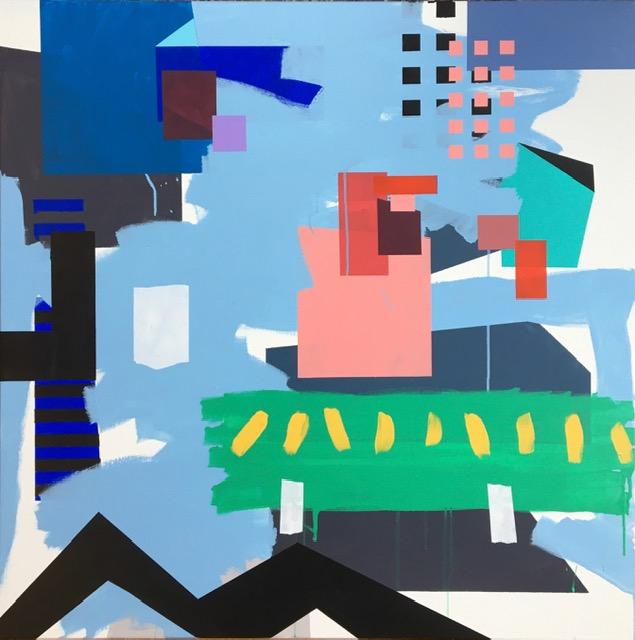 Nr. 4 Akrylmaleri (100x100 cm) kr 12000 ur
