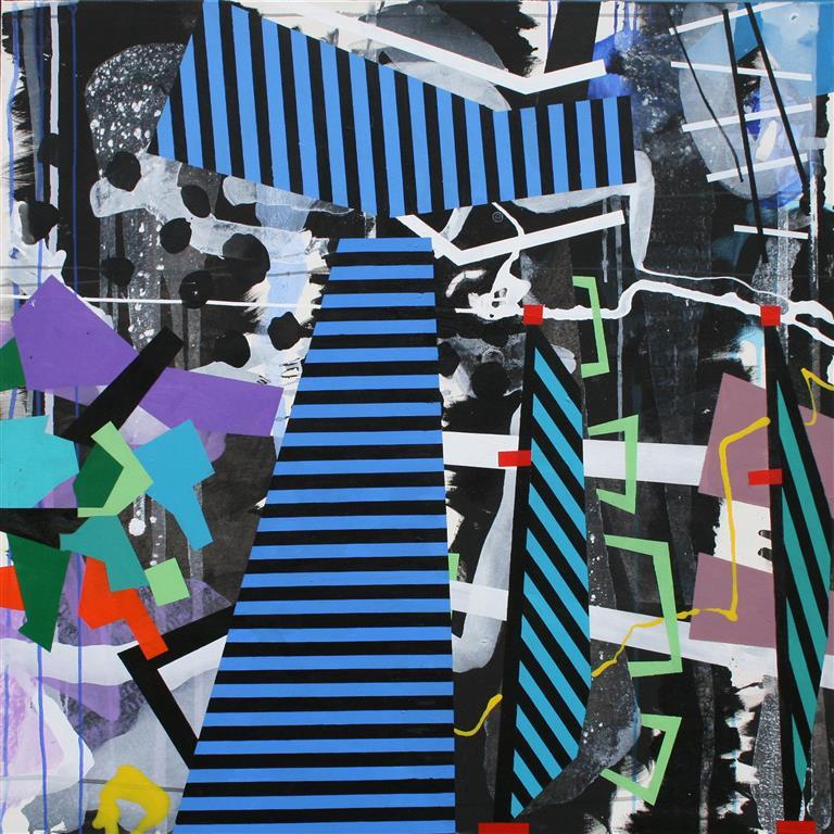Striper Akrylmaleri (120x120 cm) kr 24000 ur