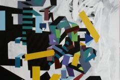Dag 75 Akrylmaleri (90x90 cm) SOLGT