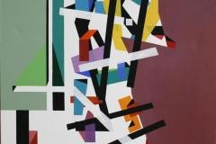 Komposisjon I Akrylmaleri (70x70 cm) kr 6800 ur