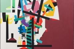 Komposisjon II Akrylmaleri (90x90 cm) kr 9000 ur
