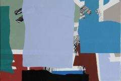 Lys blå front Akrylmaleri (50x50 cm) kr 4800 ur