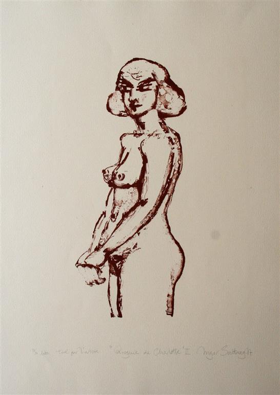 Charlotte II Litografi 45x25 cm 3500 ur