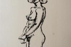Charlotte I Litografi 45x25 cm 1700 ur