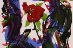 Det hev ei rose sprunge II Litografi 44x33 cm 2500 ur