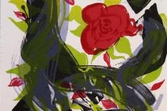 Det hev ei rose sprunge IIII Litografi 42x32 cm 2500 ur