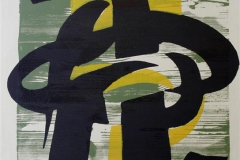 Lik tegn - med gult Litografi 70x47 cm 4000 ur