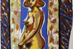 Marmorert speil I Litografi 55x43 cm 3500 ur