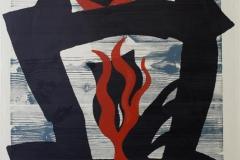 Til ild Litografi 68x52 cm 4000 ur