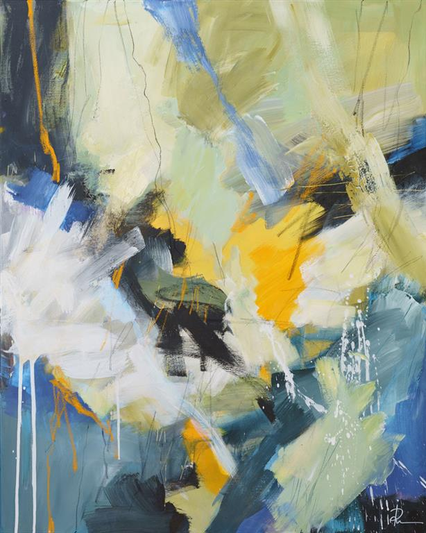 Crossing-over-13 Akrylmaleri (100x80 cm) kr 12000 ur