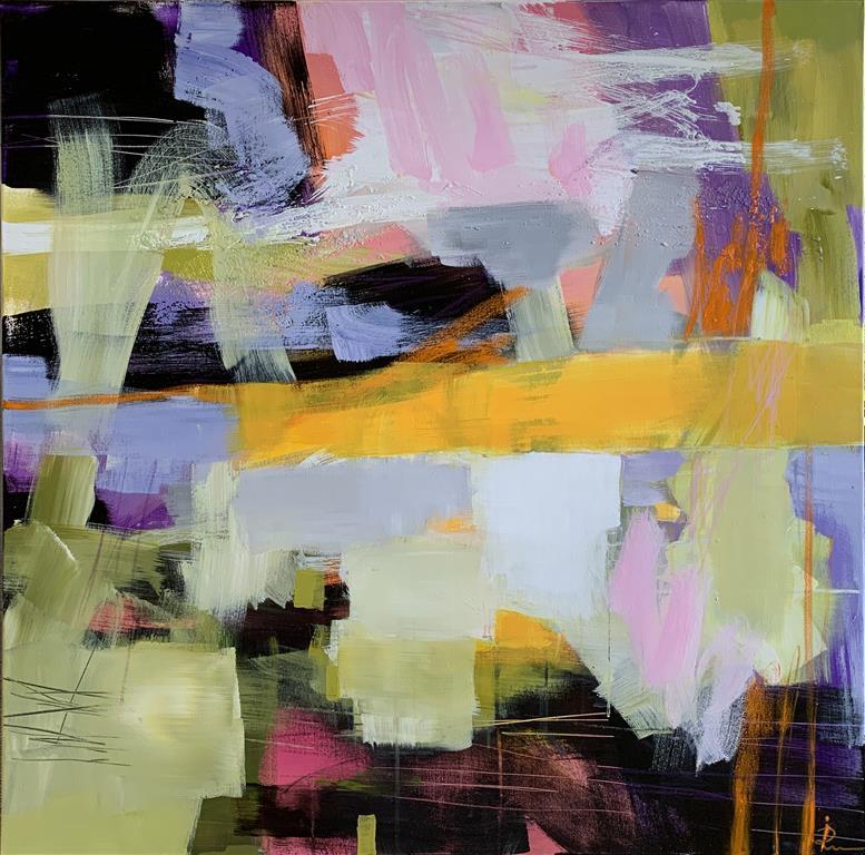 Suggestion-39 Akrylmaleri (100x100 cm) kr 15000 ur