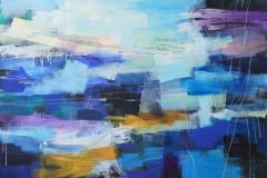 Blue Landscape-3 Akrylmaleri (100x140 cm) kr 19000 ur