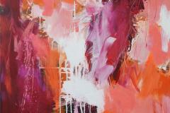 Red boost Akrylmaleri (100x100 cm) kr 15000 ur