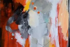 Suggestion-22 Akrylmaleri (102x102 cm) kr 15000 ur
