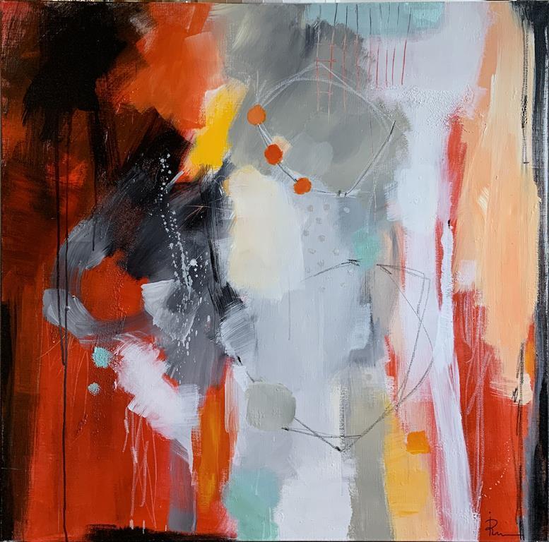 Suggestion 22 Akrylmaleri (102x102 cm) kr 15000 ur