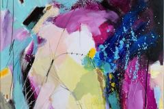 Purple light 3 Akrylmaleri (80x100 cm) kr 12000 ur