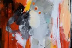 Suggestion 22 Akrylmaleri (102x102 cm) kr 12000 ur