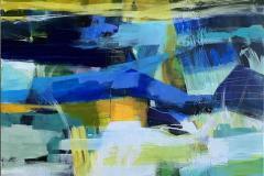 Suggestion 44 Akrylmaleri (100x100 cm) kr 14000 ur
